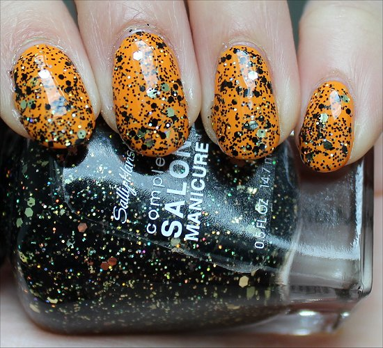 Sally Hansen Midnight Glitz Swatch & Review