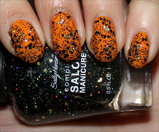 Wonderlust Holiday Collection Sally Hansen Midnight Glitz Swatch
