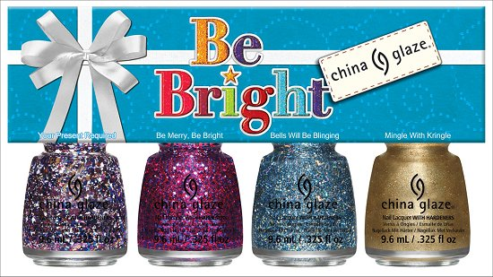 China Glaze Be Bright Mini Set China Glaze Happy HoliGlaze Collection