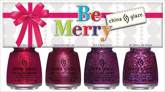 China Glaze Be Merry Mini Set China Glaze Happy HoliGlaze Collection