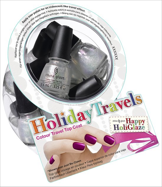 China Glaze Holiday Travels Colour Travel Top Coat China Glaze Happy HoliGlaze Collection