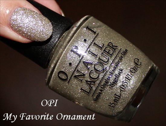 My Favorite Ornament OPI Mariah Carey Holiday Collection Review