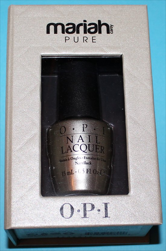 OPI Mariah Carey Pure 18K White Gold & Silver Top Coat