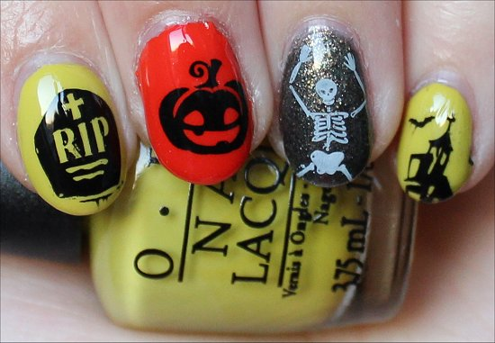 OPI Rock Goddess Halloween Nail Art