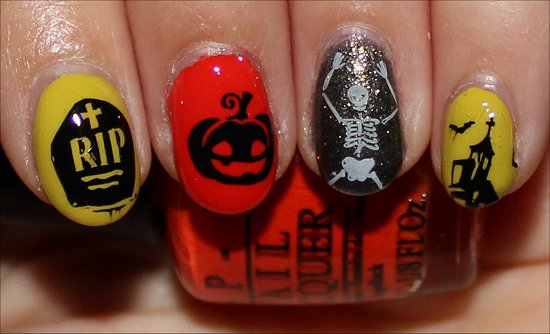 Simple Hallowe'en Manicure