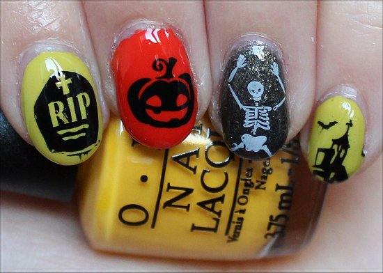 Simple Halloween Nail Art Nails