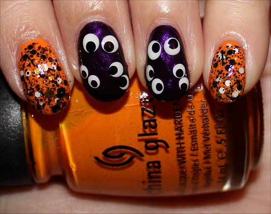 Simple Halloween Nail Art