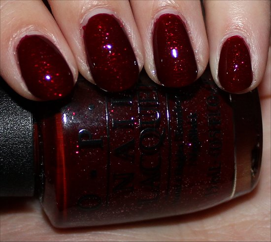 OPI Mariah Carey Holiday Underneath the Mistletoe Swatch