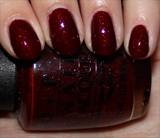 OPI Mariah Carey Holiday Underneath the Mistletoe Swatches
