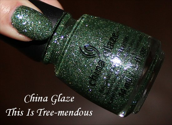 This Is Tree-mendous by China Glaze Happy HoliGlaze Swatches