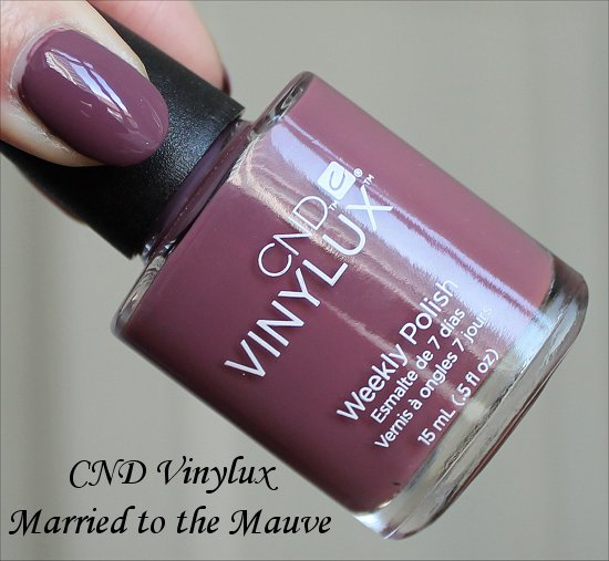CND Vinylux Married to the Mauve Swatches