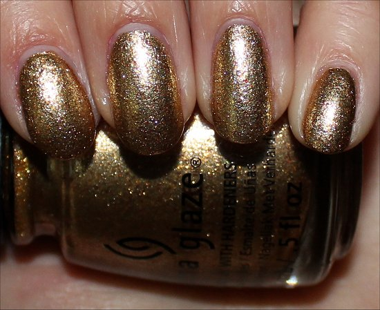 China Glaze Mingle with Kringle Swatch Happy HoliGlaze