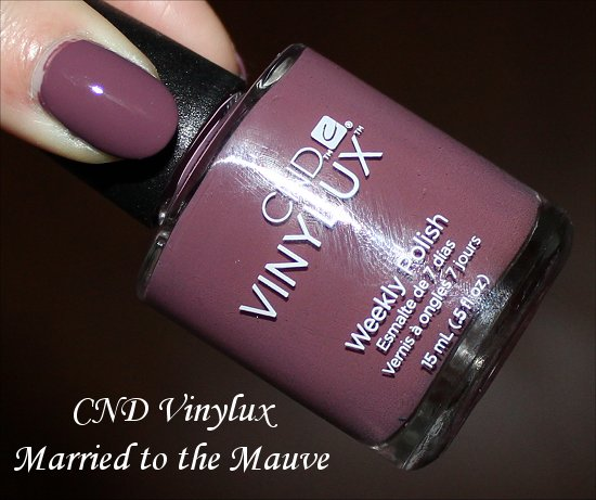 Married to the Mauve Vinylux CND Swatch