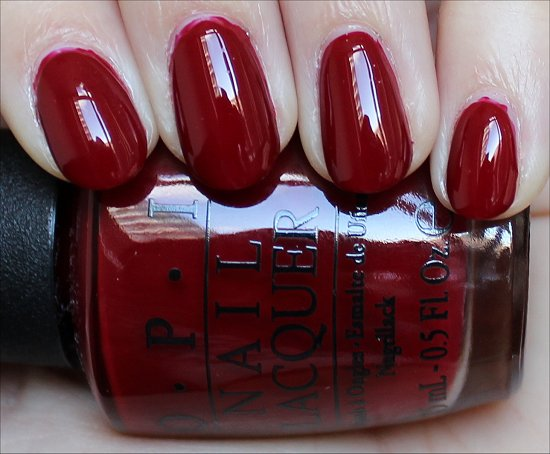 OPI All I Want for Christmas (Is OPI) Swatch Mariah Carey Holiday Collection