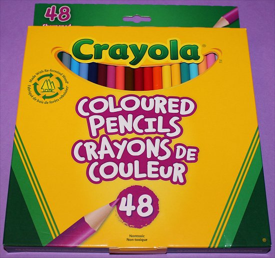 Wreck This Journal Crayola Coloured Pencils 48 Set SwatchAndLearn