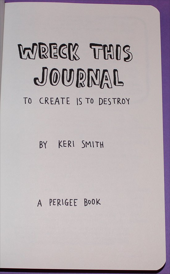 Wreck This Journal Swatch And Learn Title Page Before