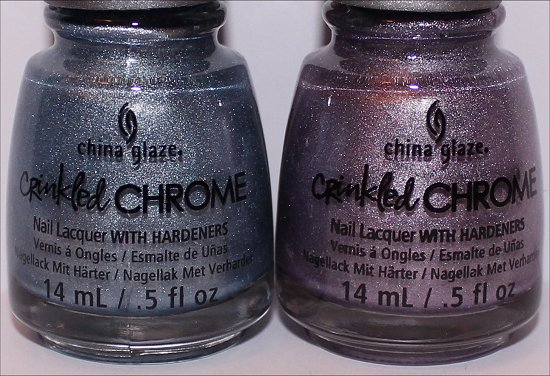 China Glaze Crinkled Chrome Collection Iron Out the Details Crush, Crush Baby