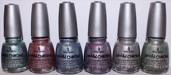 China Glaze Crinkled Chrome Collection