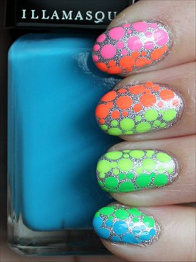 Neon Rainbow Nails Nail Art