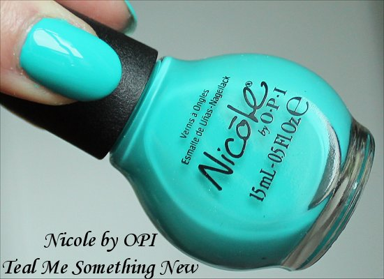 Nicole by OPI 2014 Teal Me Something New