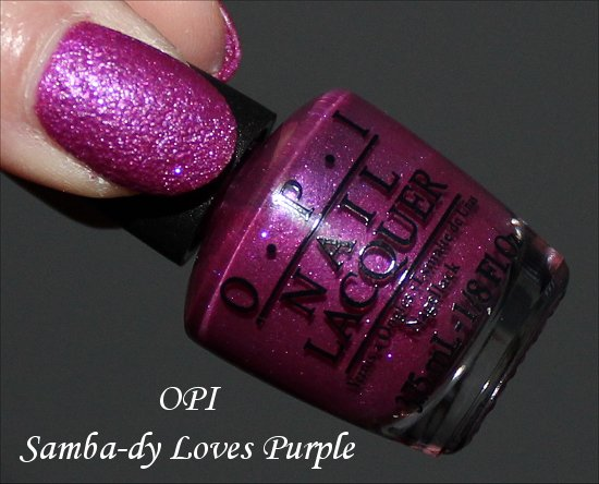 OPI Samba-dy Loves Purple Liquid Sand Swatches