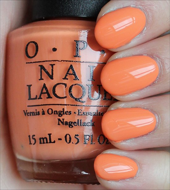 OPI Where Did Suzi's Man-Go Swatches & Review
