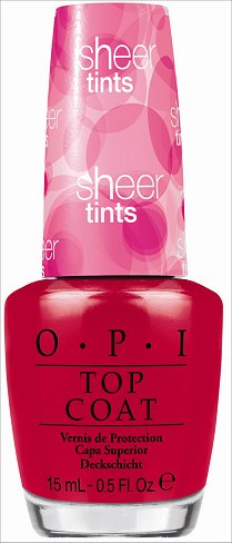 OPI Be Magentale With Me OPI Sheer Tints Red