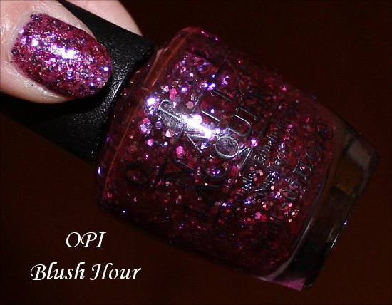 Blush Hour OPI Spotlight on Glitter Swatches
