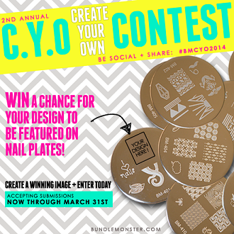 Bundle Monster's 2nd Annual Create Your Own (CYO) Nail Plate Contest