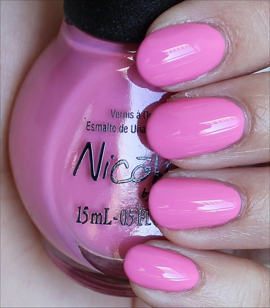 Nicole by OPI Carnival Cotton Candy Swatches