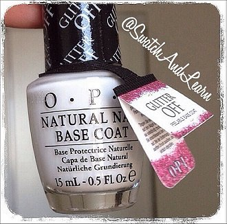 OPI Glitter Off Base Coat Review & Pictures