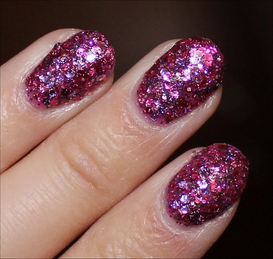 OPI Spotlight on Glitter OPI Blush Hour Swatch