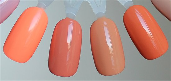 Peach Nail Polish Swatch Comparisons
