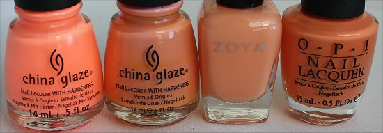 Peachy Nail Polish Comparison