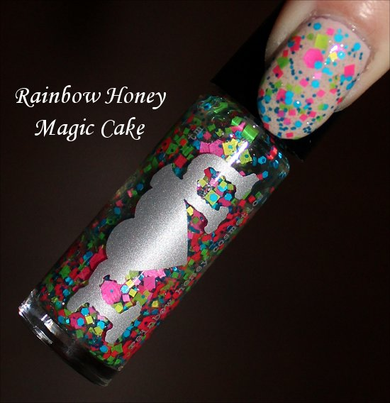 Rainbow Honey Magic Cake Swatches