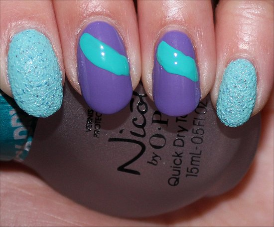 Fishtail Braid Nail Art Tutorial Swatch And Learn Step 2