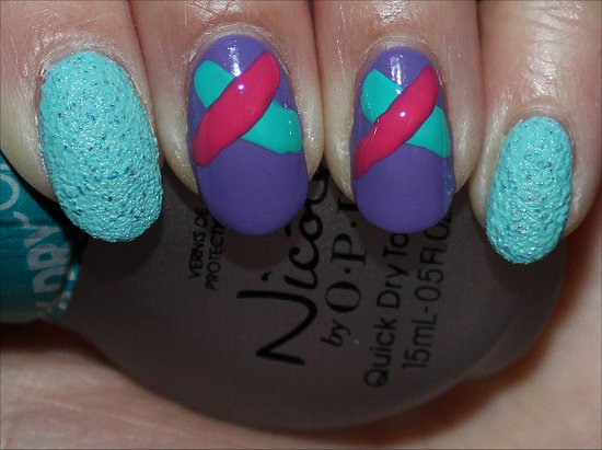 Fishtail Braid Nail Art Tutorial Swatch And Learn Step 3