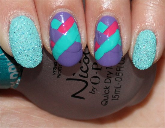 Fishtail Braid Nail Art Tutorial Swatch And Learn Step 5