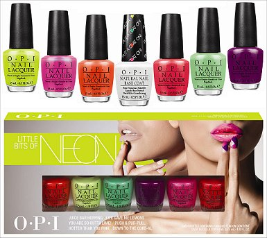 Neons by OPI & OPI Put a Coat On 2014
