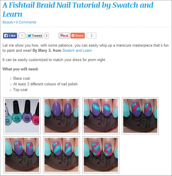 Prom Canada Swatch And Learn Nail Art