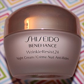 Shiseido Benefiance WrinkleResist24 Night Cream Review