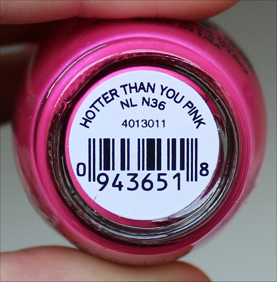 Hotter Than You Pink OPI Neon Collection