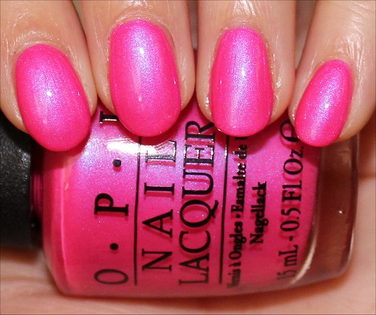 Hotter Than You Pink OPI Neons Swatches