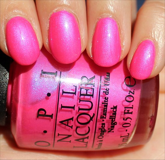 Hotter Than You Pink by OPI Neons Collection Swatches