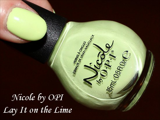 Lay It On the Lime Nicole by OPI Seize the Summer