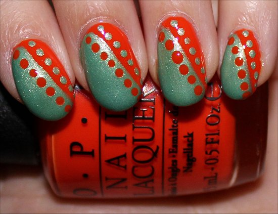 Nail Art Using OPI Juice Bar Hopping
