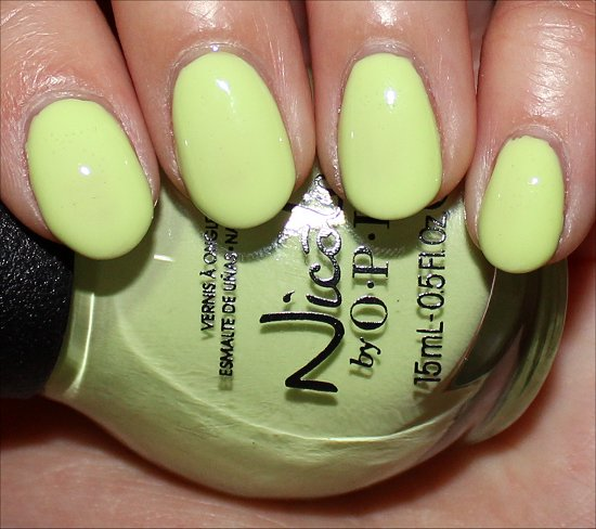 Nicole by OPI Lay It On the Lime Swatch & Photos