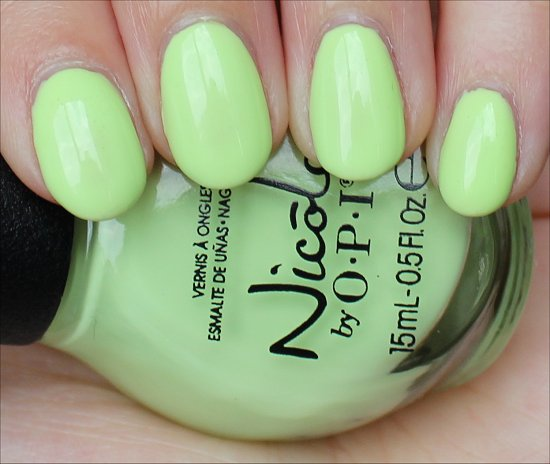 Nicole by OPI Lay It On the Lime Swatch & Review