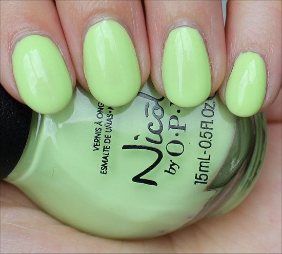 Nicole by OPI Lay It On the Lime Swatch