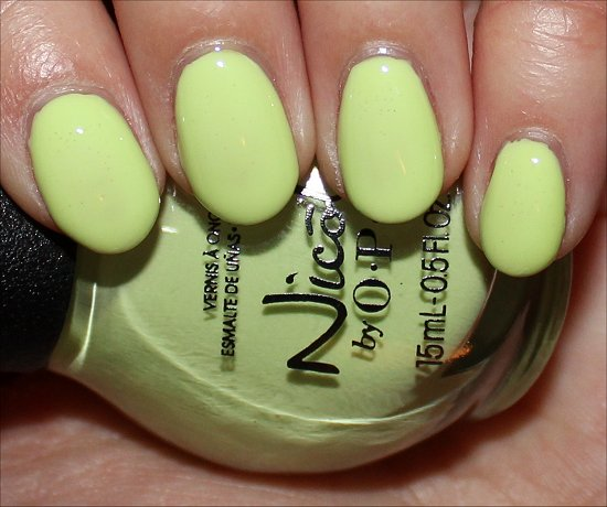 Nicole by OPI Lay It On the Lime Swatches & Pictures